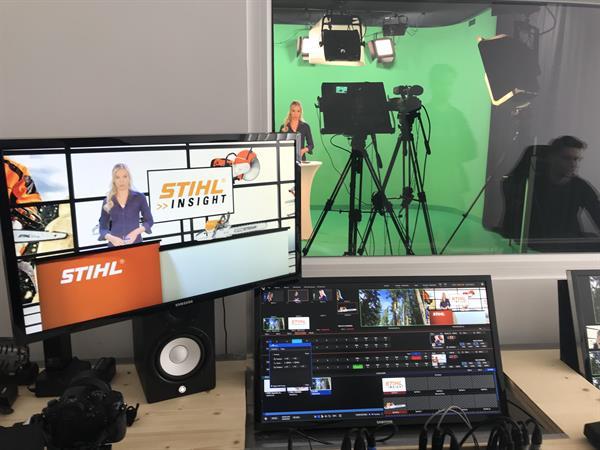 Im eigens gebauten modernen STIHL Studio wird ab sofort regelmäßig gedreht.